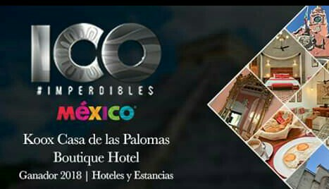 #Merida #HotelCasadelasPalomas This years winners 100 must see #BoutiqueHotels … Located at DownTown Historic of the now the new 'capital of the south of the Yucatan's mayan world. –