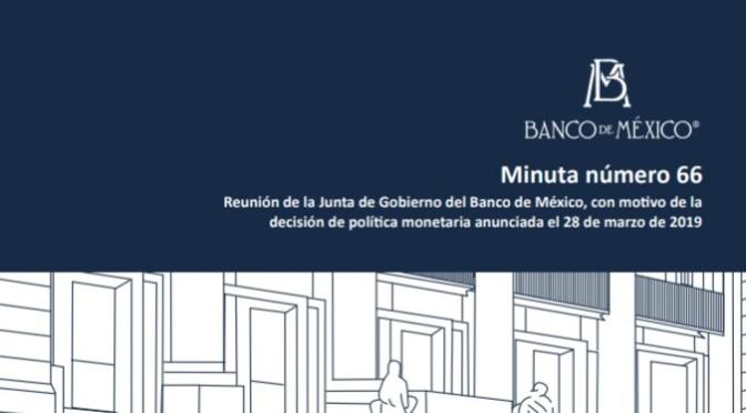 Banxico, ultimo reporte status de la economía y expectativas.