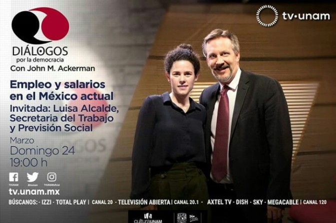 Dialogos por la democracia, -TV UNAM. Hoy 7:00pm!