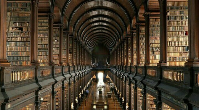 The Trinity College Library in Dublin, Ireland