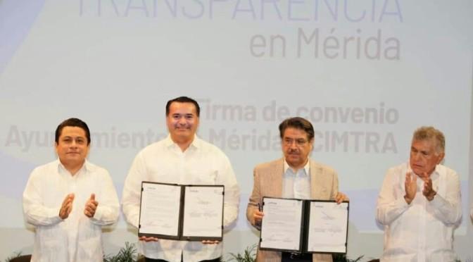 Mérida, segundo lugar   consecutivo en transparencia – Renán Barrera.