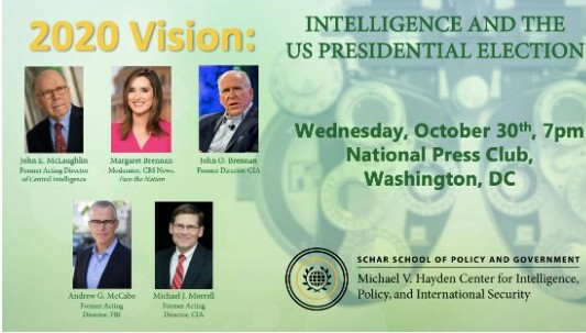 EVENT  – Michael V. Haydem Center for Intelligence, Policy and International Security.